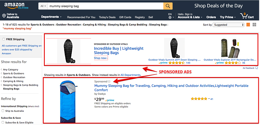 Amazon Sponsored Ads