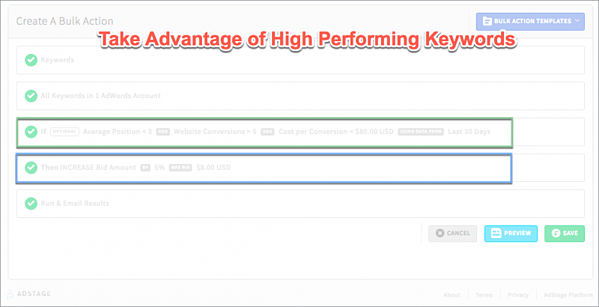 Take Advantage of High Performing Keywords Automate Bulk Actions via blog.adstage.io
