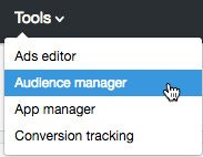 Audience Manager in Twitter Ads