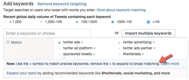 Twitter Ads_Broad Keyword Targeting