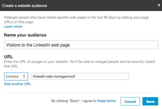 Web Audiences in LinkedIn Ads