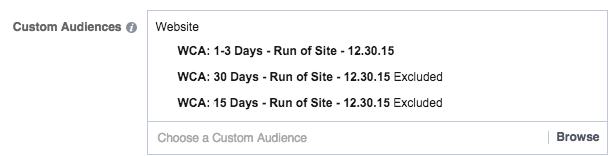 Website Custom Audience based on visited date