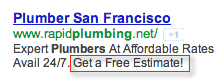 ppc ad with a clear call to action