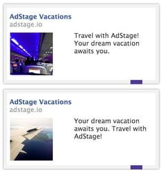 Facebook ad variations