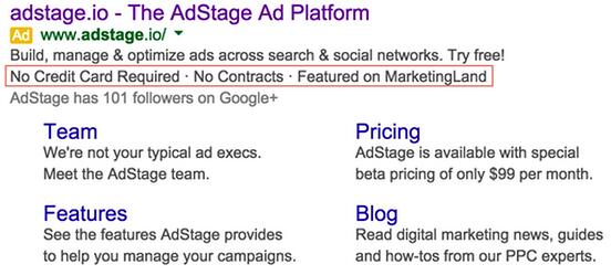 google adwords callout extension example adstage