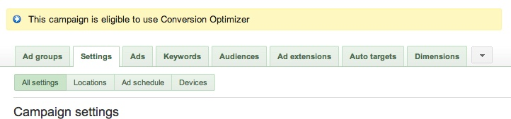 adwords-conversion-optimizer-eligibility
