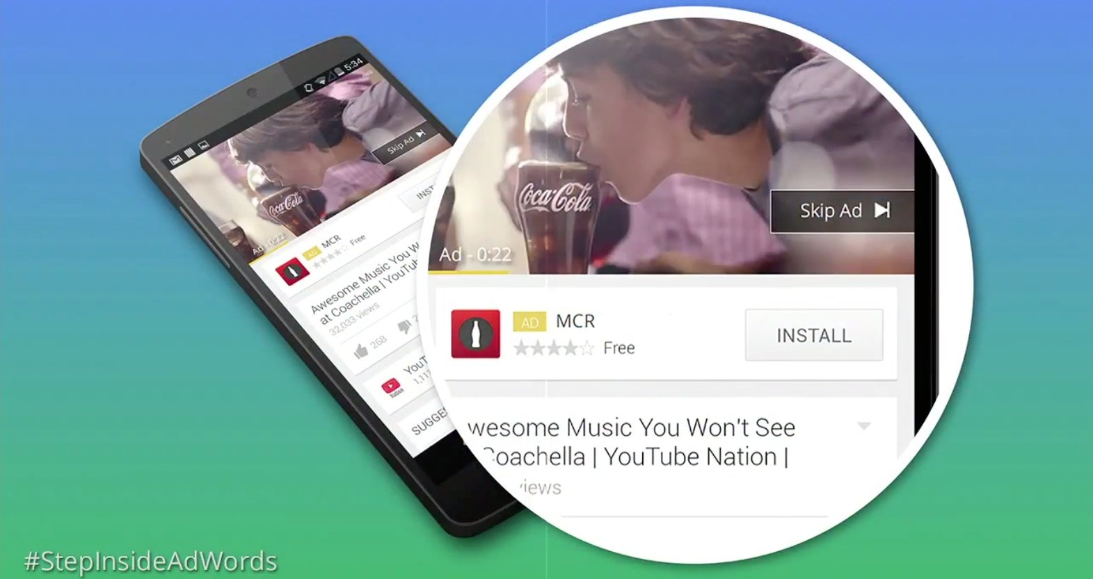 adwords youtube mobile app install ads
