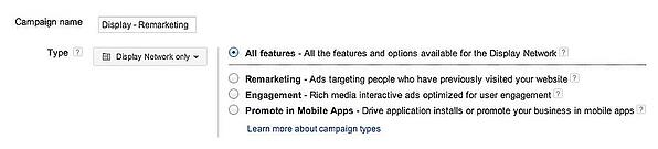 google adwords remarketing new campaign
