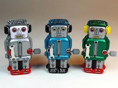 Wind up robots
