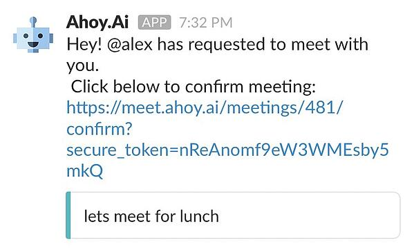 slack apps for meetings -- ahoy ai