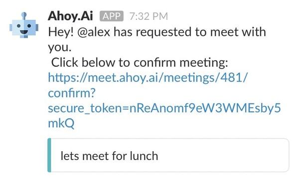 slack apps for meetings -- ahoy ai