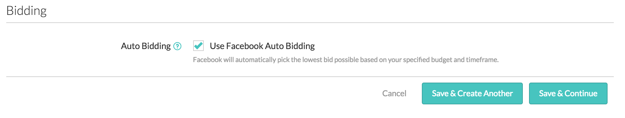 Facebook Automated Bidding