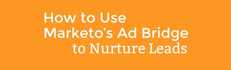 How to Use Marketo's Ad Bridge to Nurture Leads