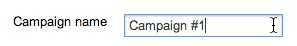 campaign name field