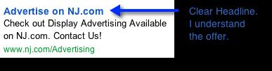 An ad with a clear headline