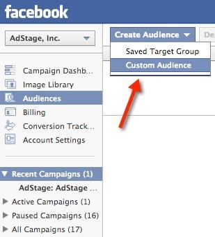 Creating a custom audience