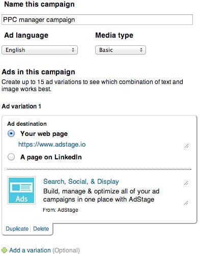 Create a LinkedIn Ads Campaign
