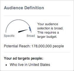 facebook ads audience size gauge