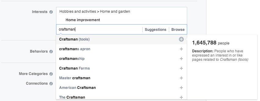 facebook ads targeting interests