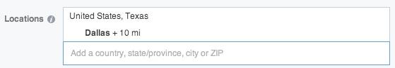 facebook ads location