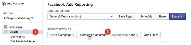 facebook ads manager reporting