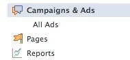 Facebook ads sidebar