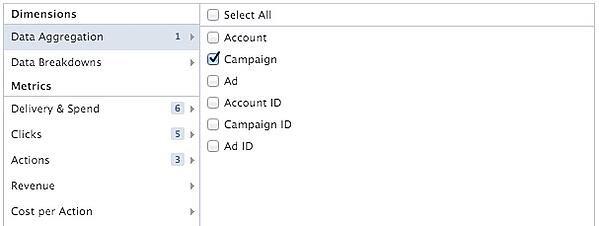 Facebook Ads Report Data Aggregation