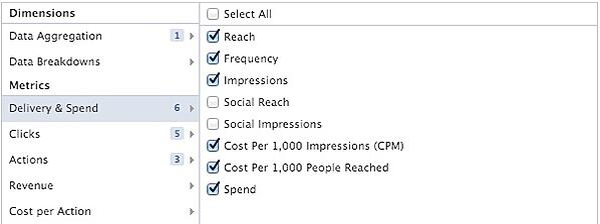 Facebook Ads Report Metrics