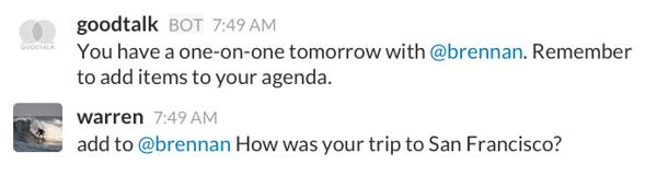 slack apps for meetings - goodtalk