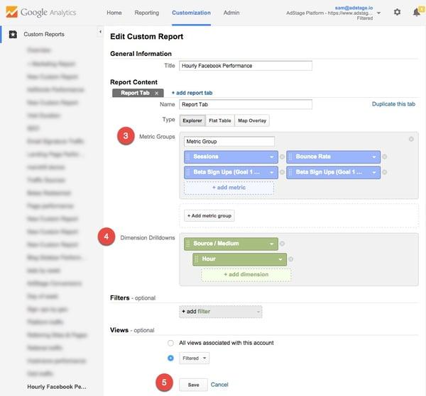 Google Analytics Custom Dayparting Report