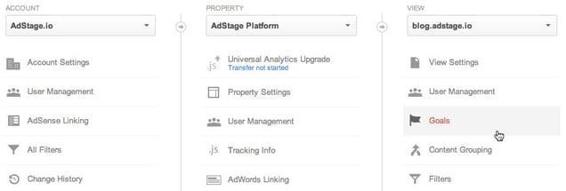 Google Analytics Admin Settings