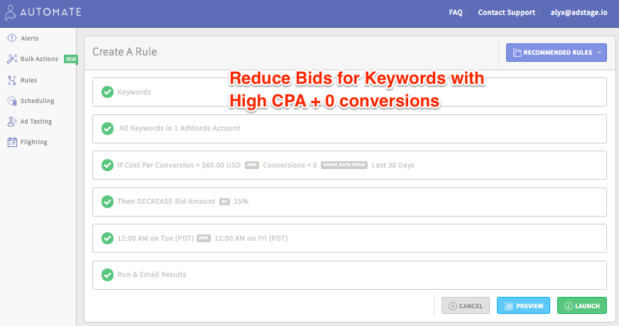 Reduce Bids for Keywords with a High Cost Per Acquisition (CPA) via blog.adstage.io