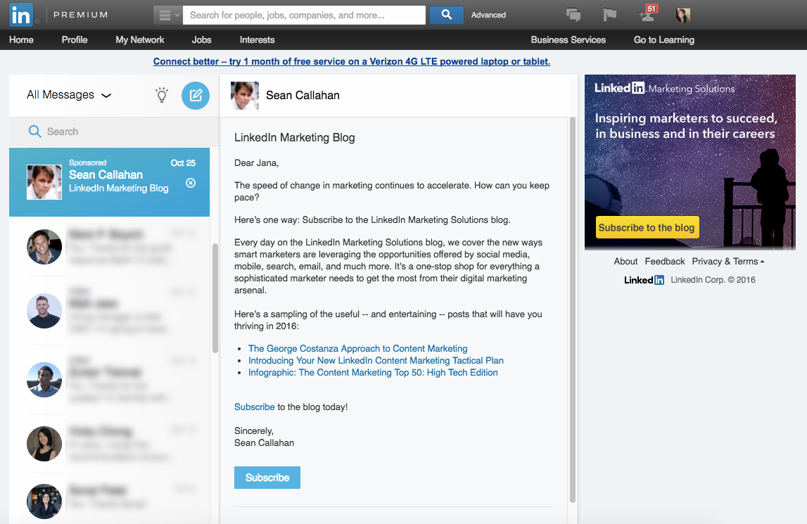 Campaign Ideas for B2B Marketers Using Sponsored InMail via blog.adstage.io