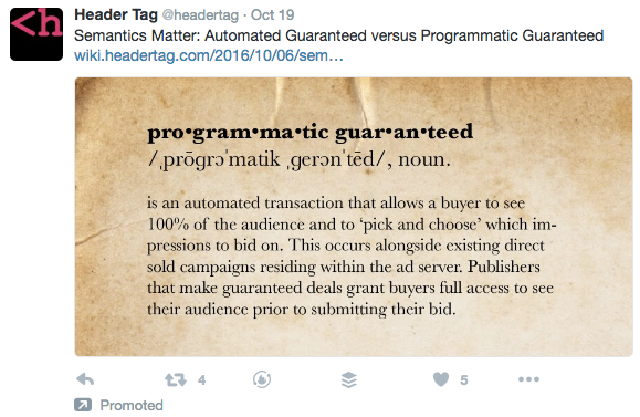 Twitter Ads new campaign objective example