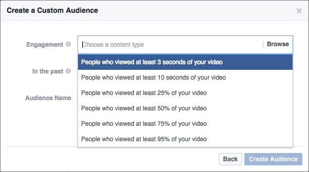Options How to Use Video View Exclusion Targeting in Facebook Ads