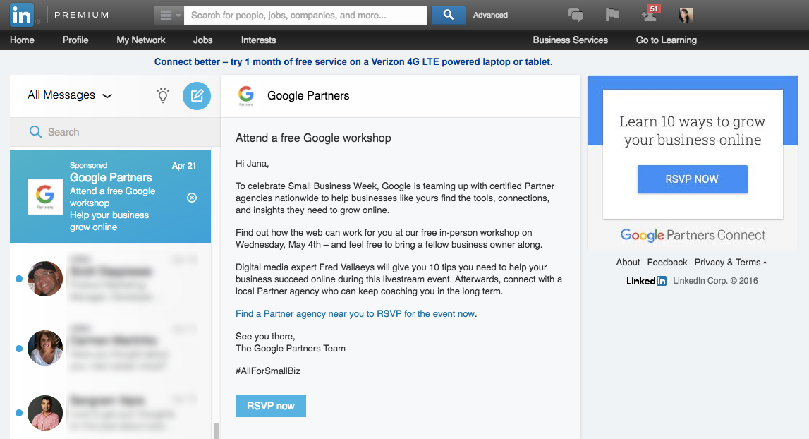 Campaign Ideas for B2B Marketers Using LinkedIn Sponsored InMail via blog.adstage.io