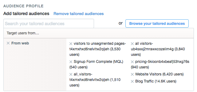 Twitter Ads Campaign Objective Set Up Tailored Audiences via blog.adstage.io