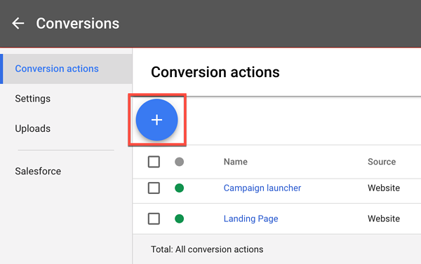 adwords ui conversions tab