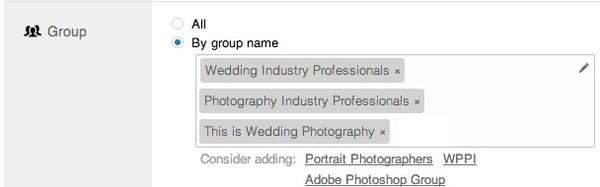 linkedin ads groups