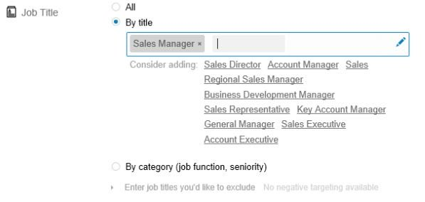 Linkedin Ads Targeting Job Title