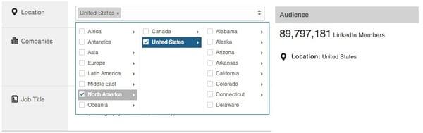Linkedin ads location