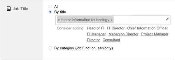 linkedin ads job title