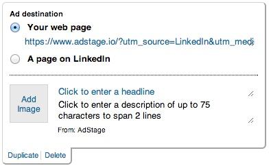 new linkedin ad