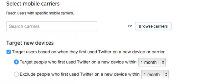 twitter ads new mobile device targeting
