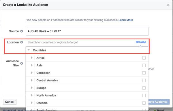Lookalike Audiences Select Countries via blog.adstage.io