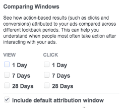 conversion window for Facebook Ads - PPC reporting software