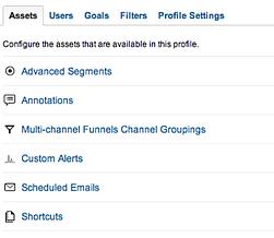 Google Analytics options
