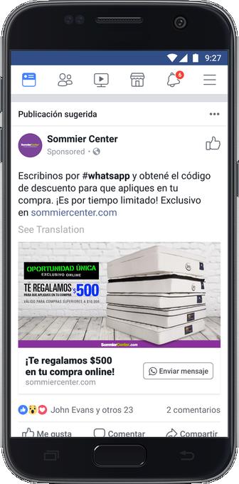 whatsapp advertising
