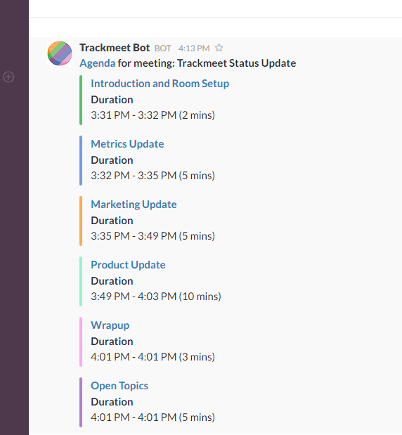 slack productivity apps -- trackmeet