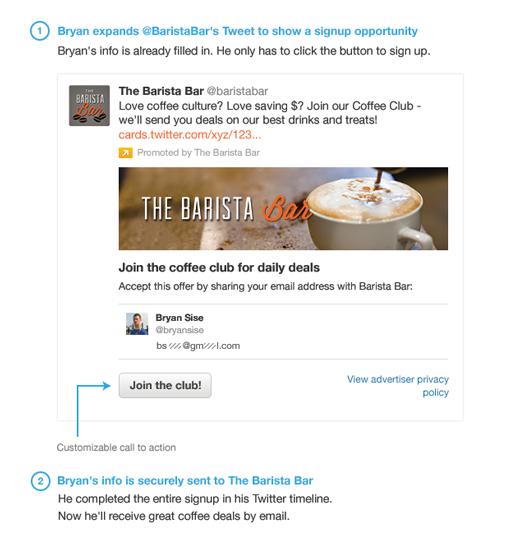 Twitter Ads Lead Generation Card